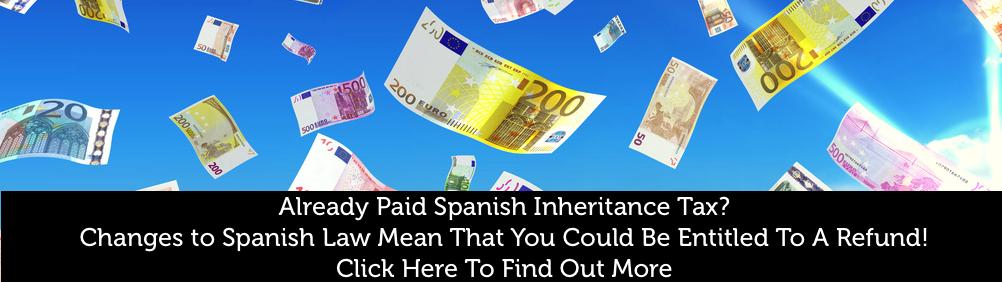 Spanish Inheritance Tax Changes Refund