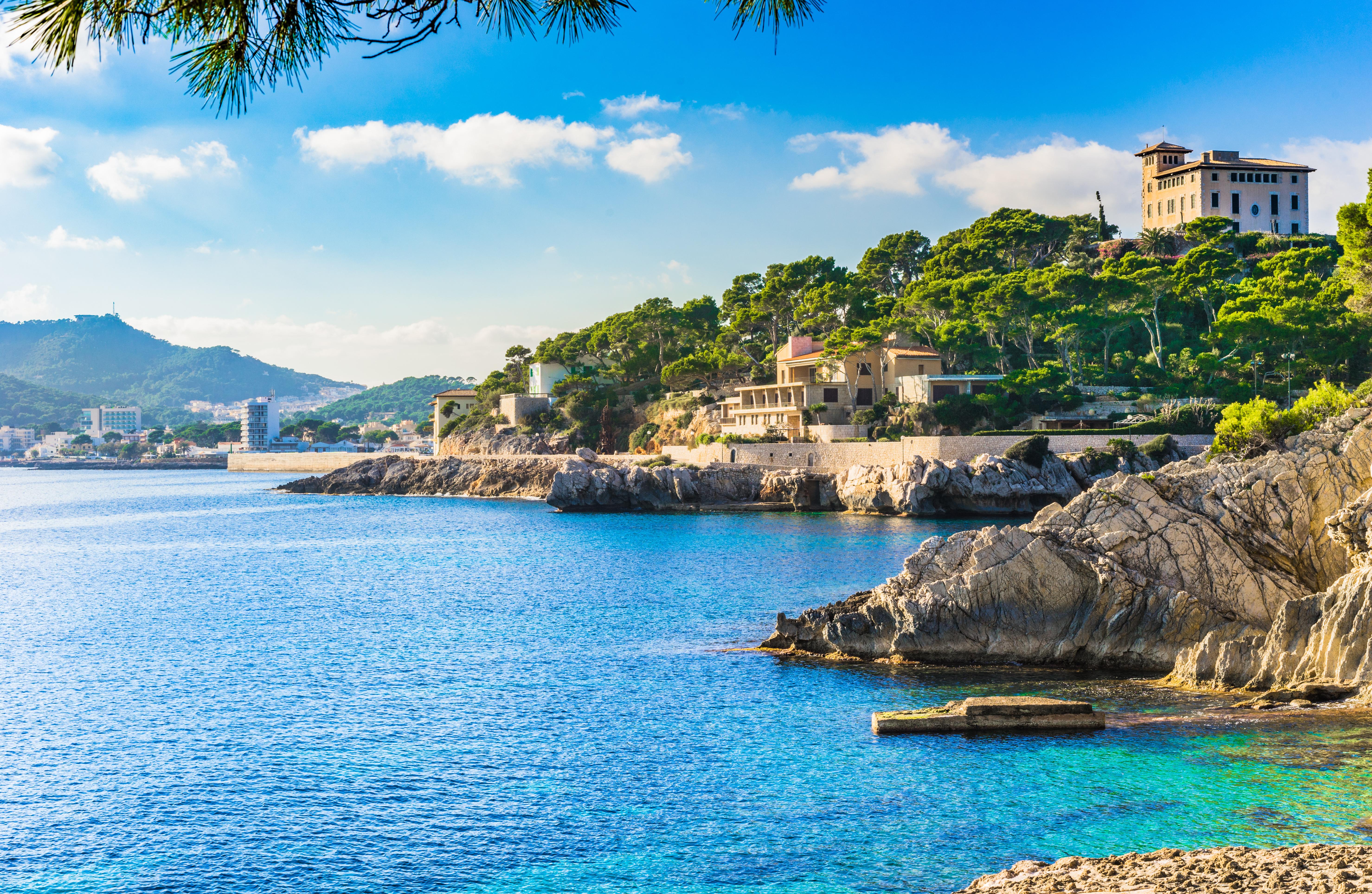Seaside of Cala Ratjada Majorca Spain