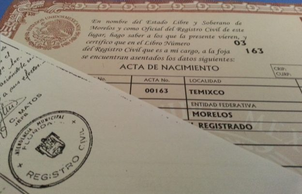 How to get a spanish birth certificate